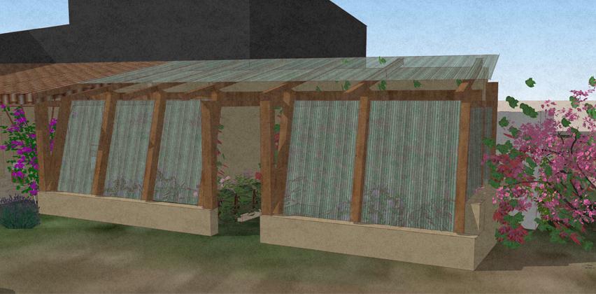 M lodie viennot architecte - Plan de serre en bois et panneaux polycarbonate ...